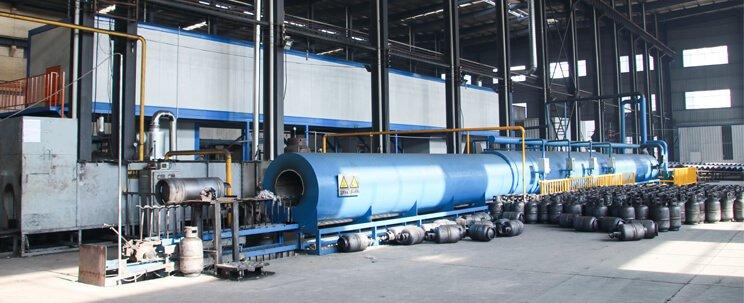 LPG gas cylinder produce