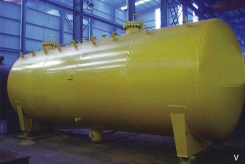 Liquid ammonia, liquid chlorine tanks