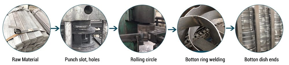 lpg cylinder botton ring process