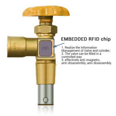 Integrated RFID LPG Cylinder Valve