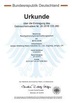 gas cylinder german patent